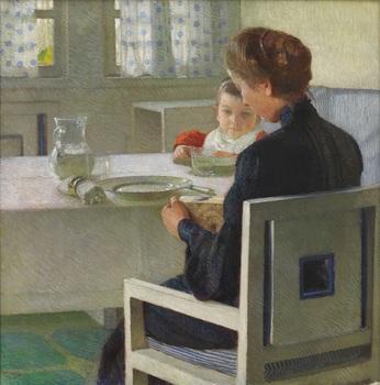 15.カール・モル《朝食をとる母と子》.jpg
