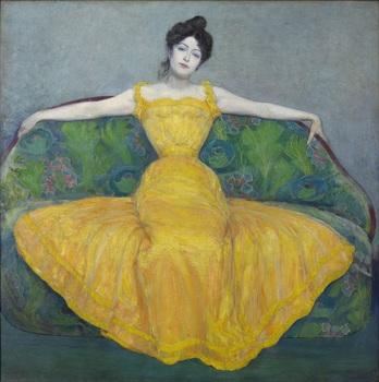 6.マクシミリアン・クルツヴァイル《黄色いドレスの女性(画家の妻)》.jpg